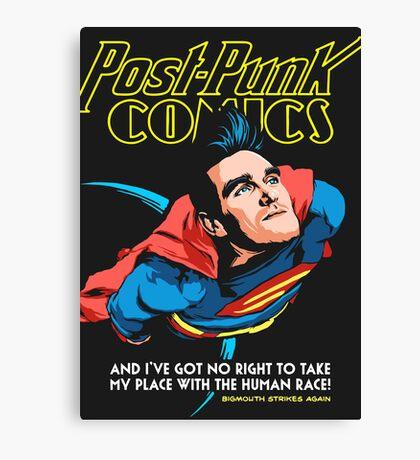 Post-Punk Comics | Super Mouth Strikes Again Canvas Print