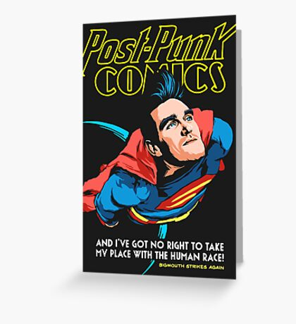 Post-Punk Comics | Super Mouth Strikes Again Greeting Card