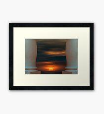 Peaceful Sunset Scene Viewpoint Framed Print