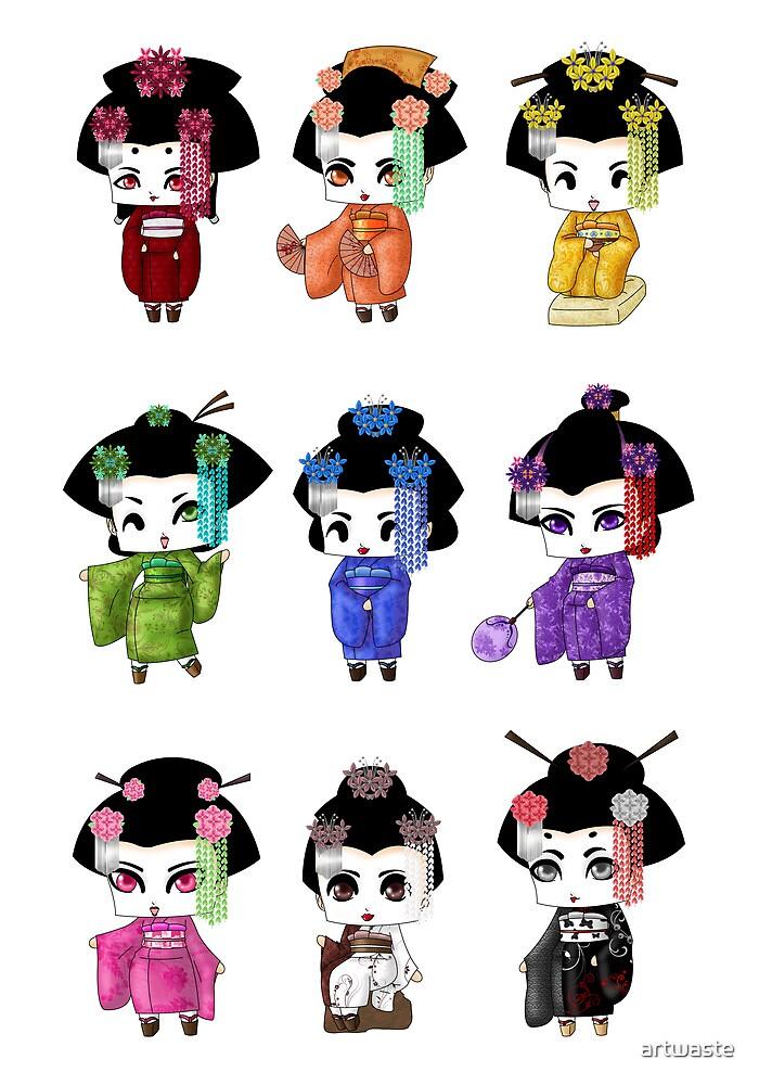 Chibi Geisha by artwaste