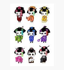 Chibi Geisha Photographic Print