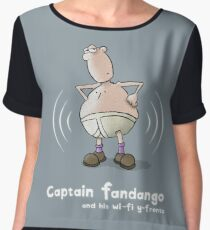 Captain Fandango and his Wi-Fi Y-Fronts Chiffon Top