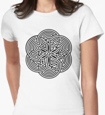 Modern Maze - brain game | Laberinto moderno - juego mental Women's Fitted T-Shirt