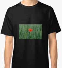 Poppy in Wheat Field Classic T-Shirt