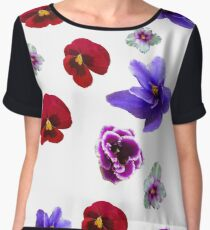 Flowers, violets Chiffon Top
