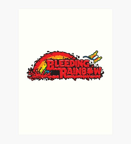 Bleeding Rainbow Art Print