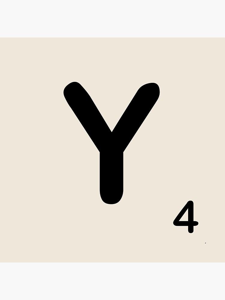 Scrabble Tile Y von dystopic