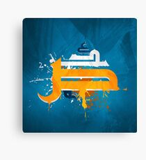 arabic letters caligraphy asbstract graffiti grunge Canvas Print