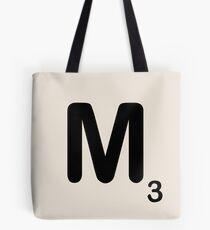 Scrabble Tile M Tote Bag