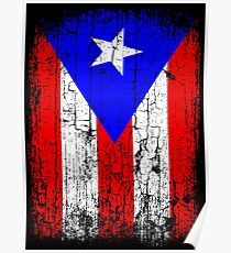 Vintage Puerto Rico Flag  Poster