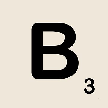 Scrabble Tile B by dystopic