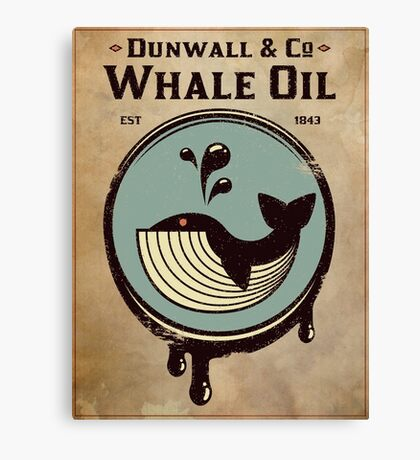 Walldun & Co Whale Oil Canvas Print