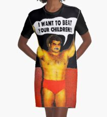 Funny Sayings - I Want to Beat Your Children Graphic T-Shirt Dress