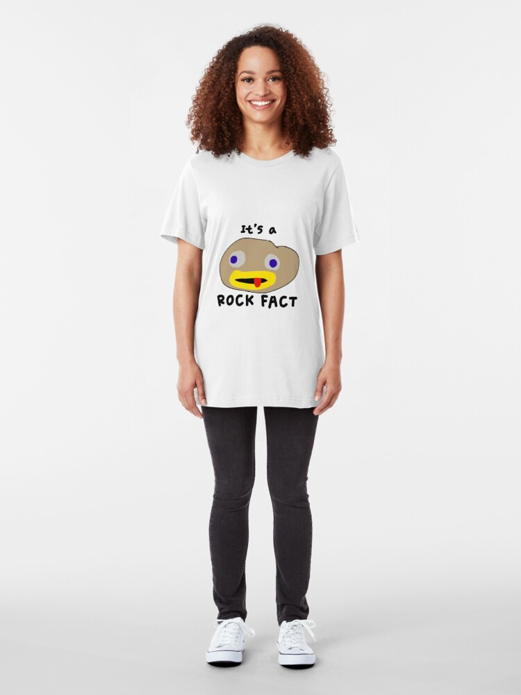 Alternate view of It's a Rock Fact! Slim Fit T-Shirt