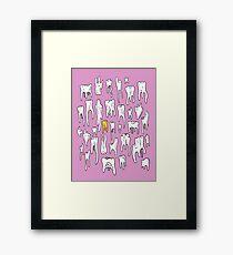 Tooth or Dare, Bold Illustration Framed Print