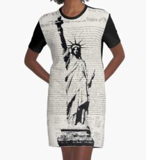 United We Stand Graphic T-Shirt Dress