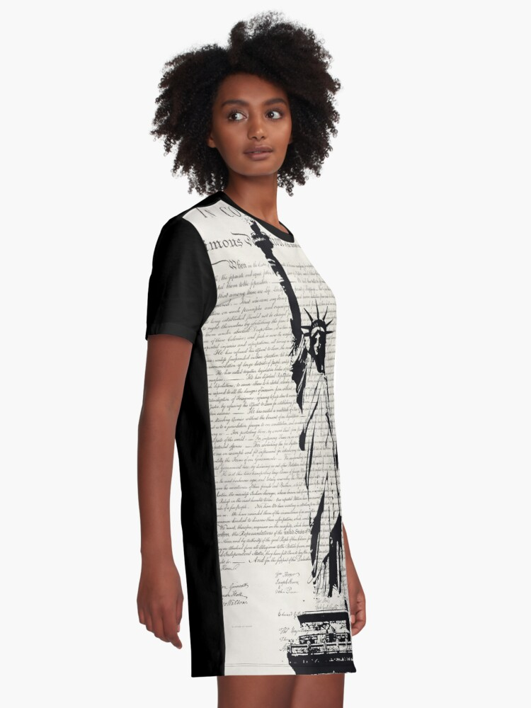 Alternate view of United We Stand Graphic T-Shirt Dress
