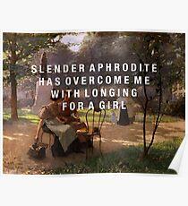 slender aphrodite Poster