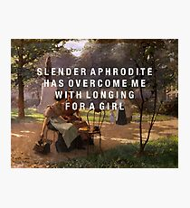 slender aphrodite Photographic Print