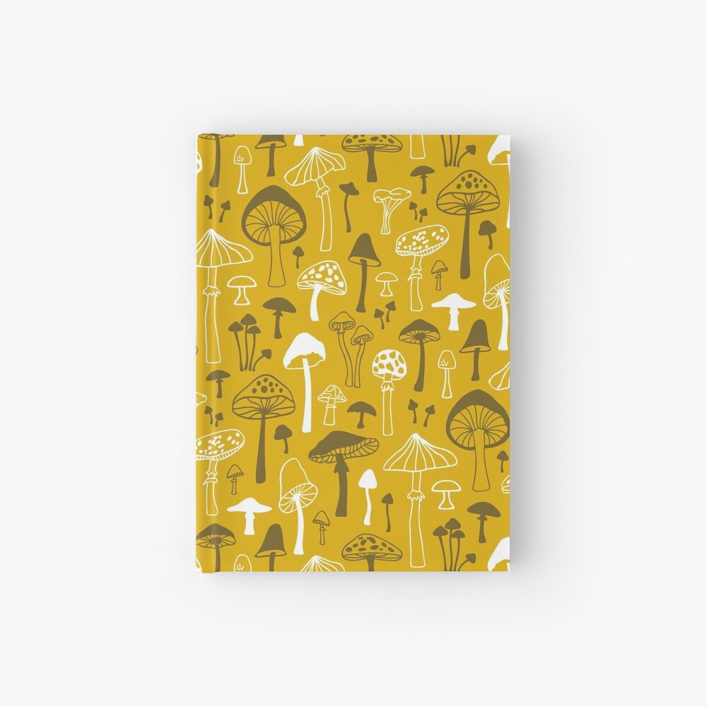 Pilze in Gelb Notizbuch