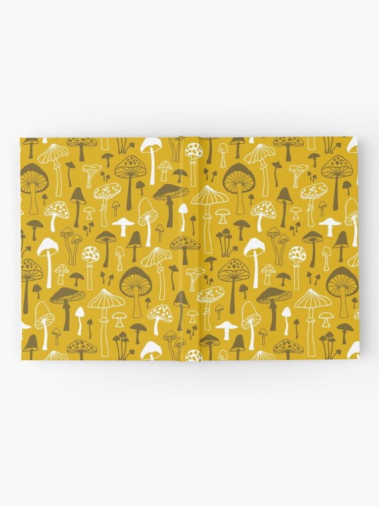 Alternative Ansicht von Pilze in Gelb Notizbuch