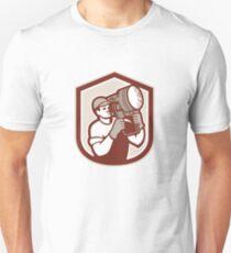 Electrical Lighting Technician Carry Spotlight Shield Unisex T-Shirt