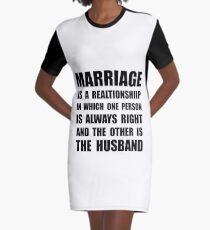 Marriage Husband Graphic T-Shirt Dress
