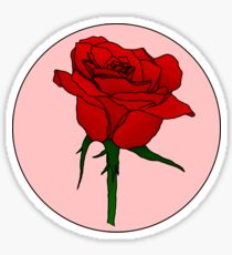 Retro Rose Sticker