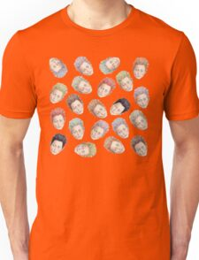 Colorful Tilda Heads Unisex T-Shirt