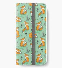 Dreamy Fox in Green iPhone Wallet/Case/Skin