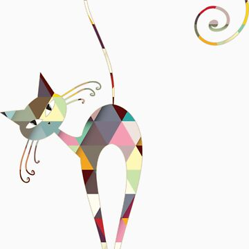 COLORFUL  CAT by rosaluca