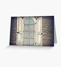 Carriage House Window  Greeting Card