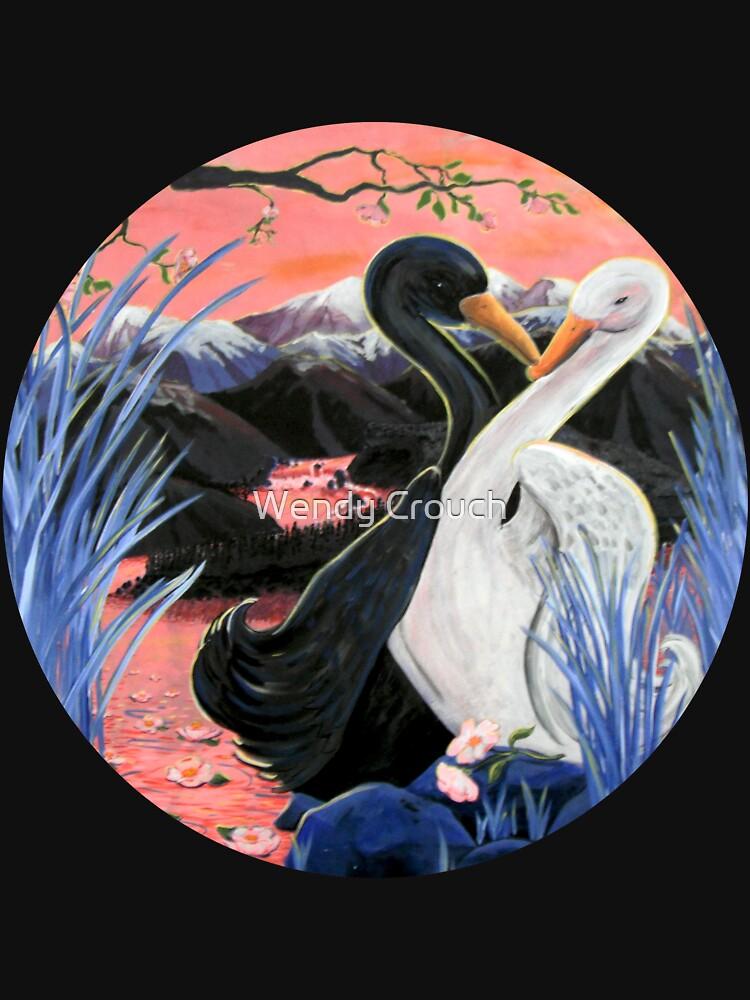 Swans Kiss von Aryahvayu