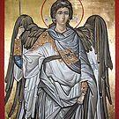 Archangel Michael - Eastern Orthodox icon by Filip Mihail