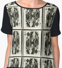 Clara Bow Diamond Queen Women's Chiffon Top