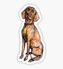 Dog Pattern 3 in Grey Gray Sticker