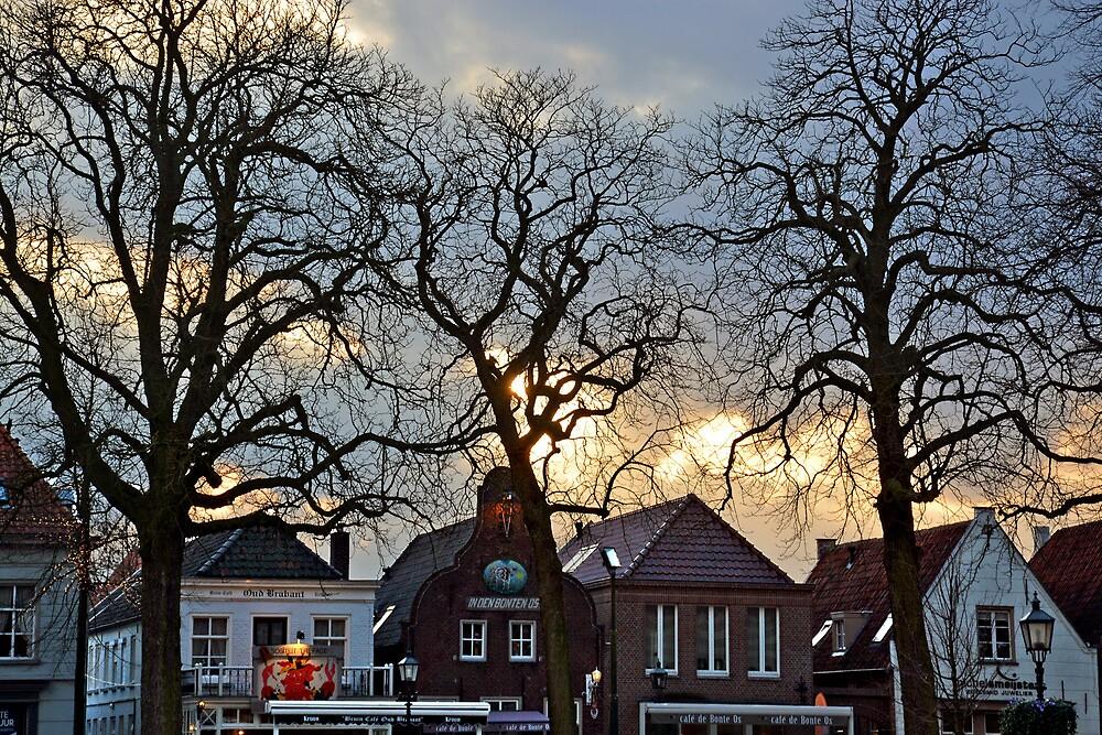 Sunset in Oirschot - Netherlands by Arie Koene