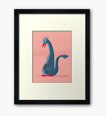 Falcarius is Fuzzy Framed Print