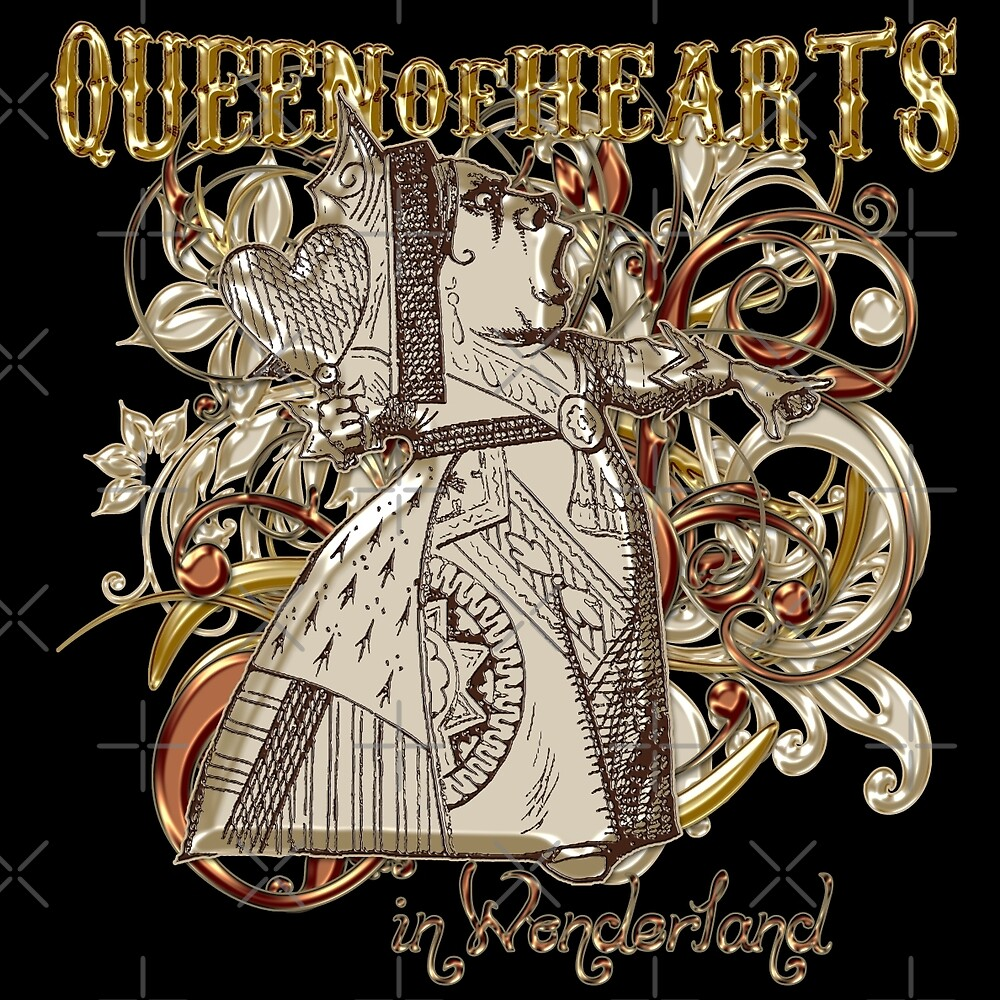 Queen of Hearts Carnivale Style - Gold Version by Incognita Enterprises