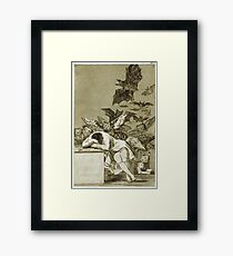 Francisco De Goya  - The Sleep Of Reason Produces Monsters. Bird painting: cute fowl, fly, wings, lucky, pets, wild life, animal, birds, little small, bird, nature Framed Print
