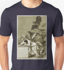 Francisco De Goya  - The Sleep Of Reason Produces Monsters. Bird painting: cute fowl, fly, wings, lucky, pets, wild life, animal, birds, little small, bird, nature Unisex T-Shirt