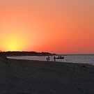 Sunset on the Beach near Perth by looneyatoms