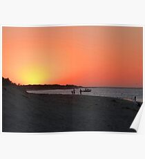 Sunset on the Beach near Perth Poster