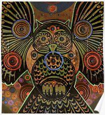 Big Bronze Owl Poster
