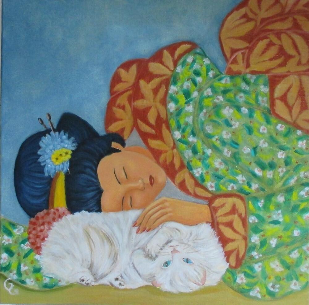 I love my cat. by gloria47