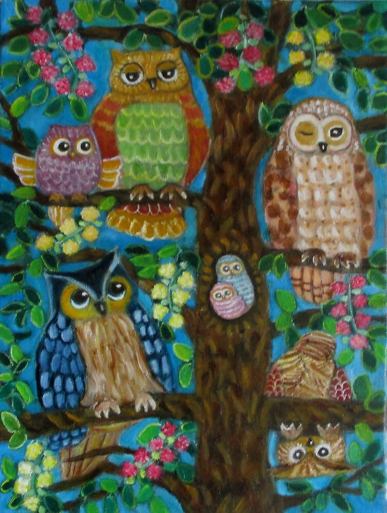 A tree full of owls. by gloria47