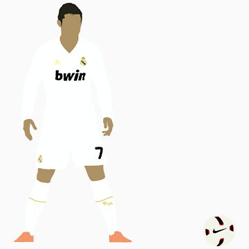 Cristiano Ronaldo Minimalist Design with ball by rodgers37