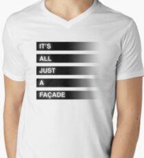 It's All Just A Façade (Faded) Mens V-Neck T-Shirt