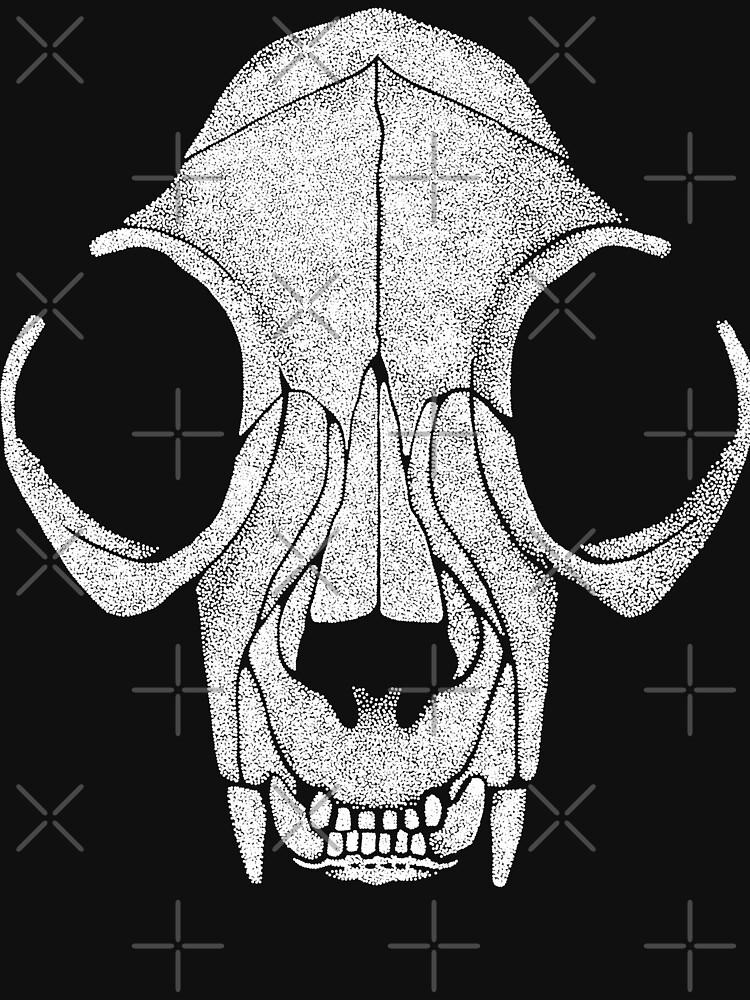 Cat Skull White Halftone by GrizzlyGaz