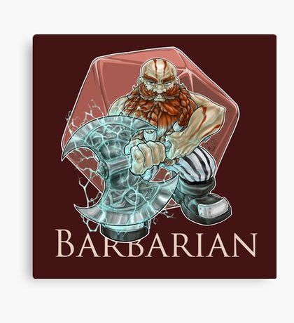 Dungeons and Dragons Barbarian Canvas Print
